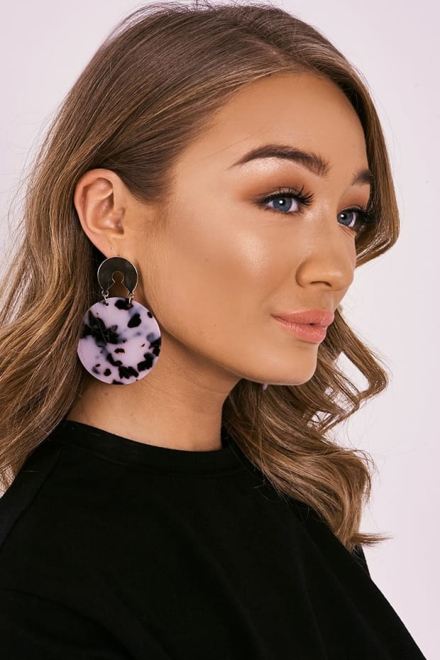 GOLD TORTOISESHELL DISC EARRINGS