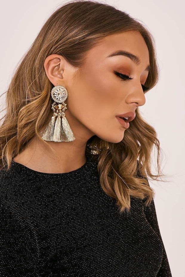GOLD ART DECO TASSEL EARRINGS
