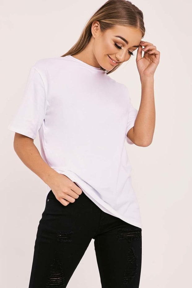 BASIC LONGLINE WHITE T SHIRT