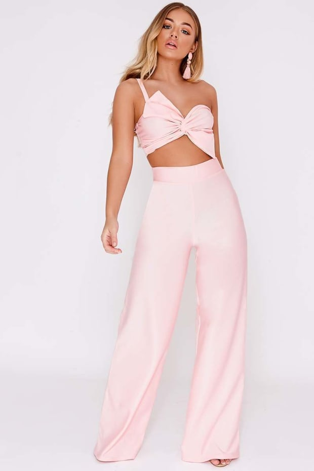 BILLIE FAIERS BLUSH PALAZZO TROUSERS