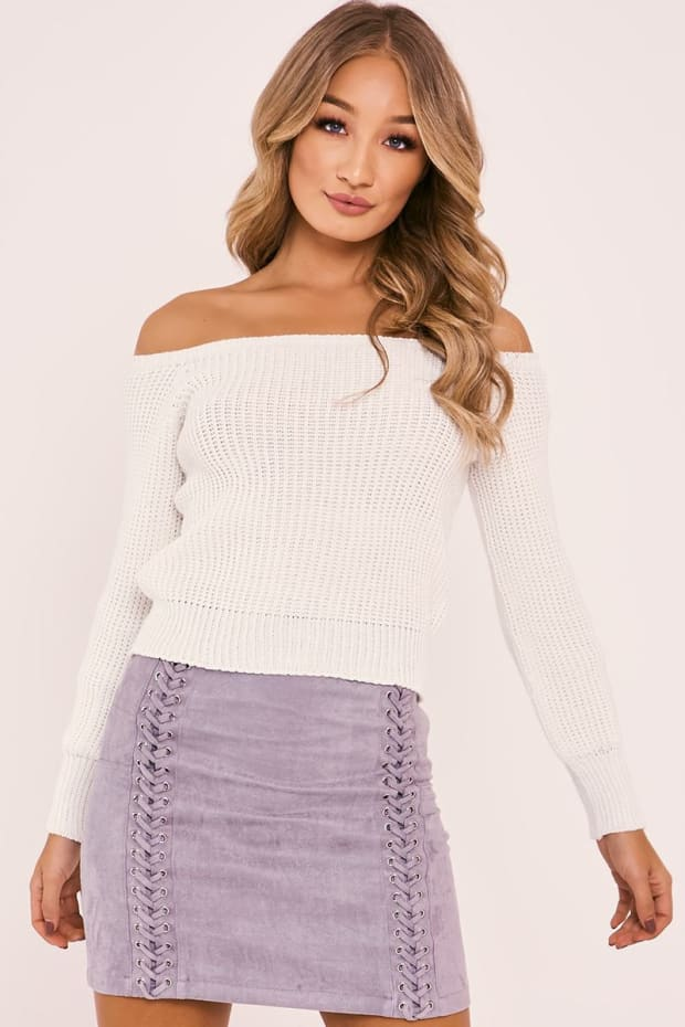HARRIETA CREAM BARDOT JUMPER