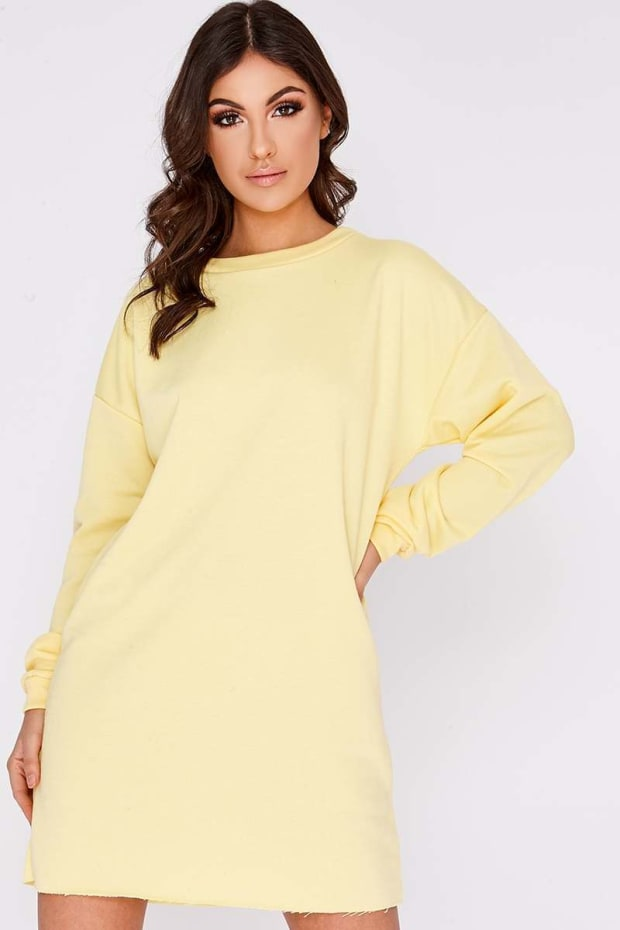 LOUNA YELLOW OVERSIZED SWEATER DRESS