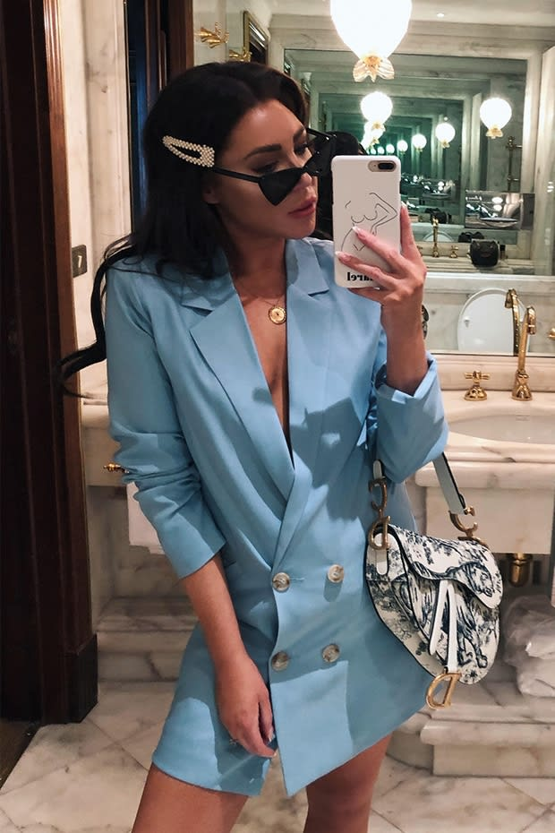 LORNA LUXE 'SORRY NOT SORRY' BLUE BLAZER DRESS