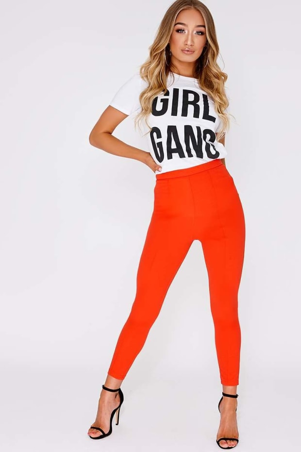 MERELDA ORANGE TAPERED TROUSER