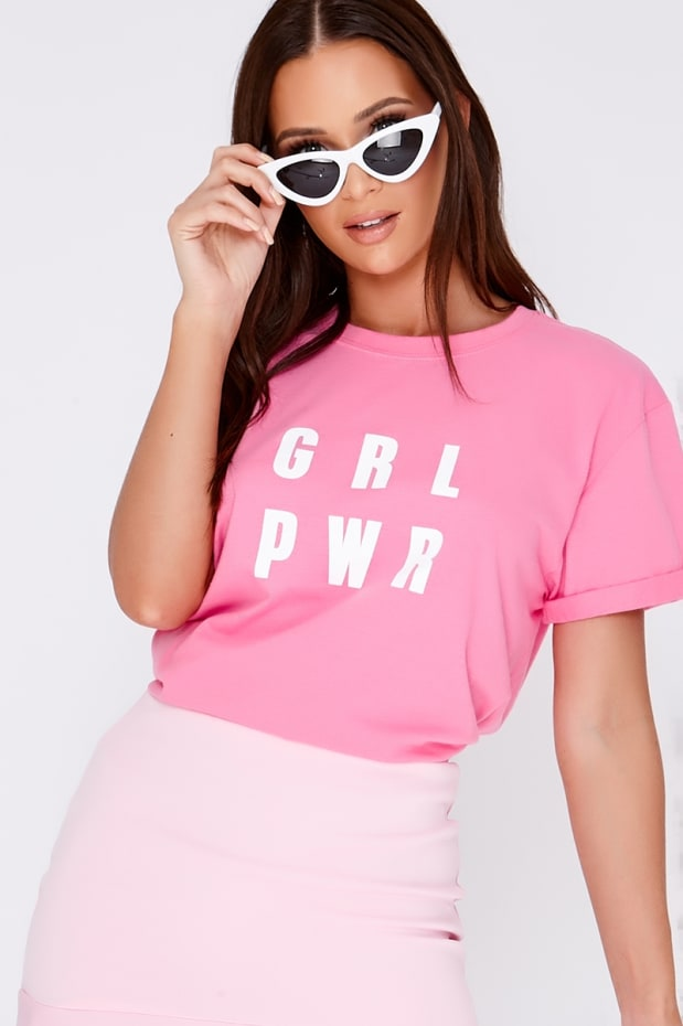GRL PWR PINK T SHIRT