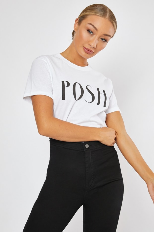 50a86f48390 POSH SPICE WHITE T-SHIRT. Play Hide