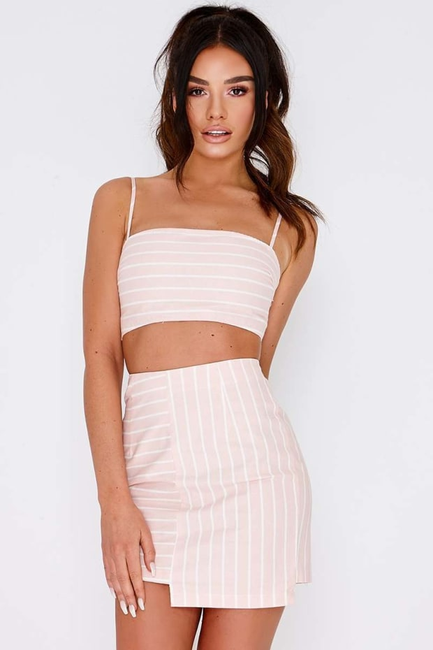 SARAH ASHCROFT PINK STRIPE CROP TOP