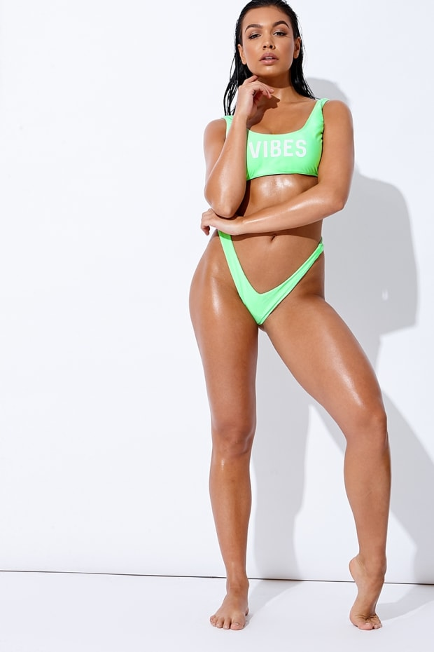 SARAH ASHCROFT GREEN V THONG BIKINI BOTTOMS