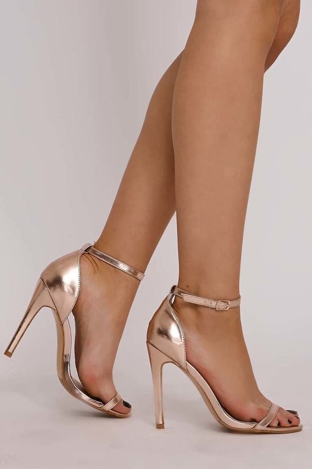 URSA ROSE GOLD BARELY THERE HEELS