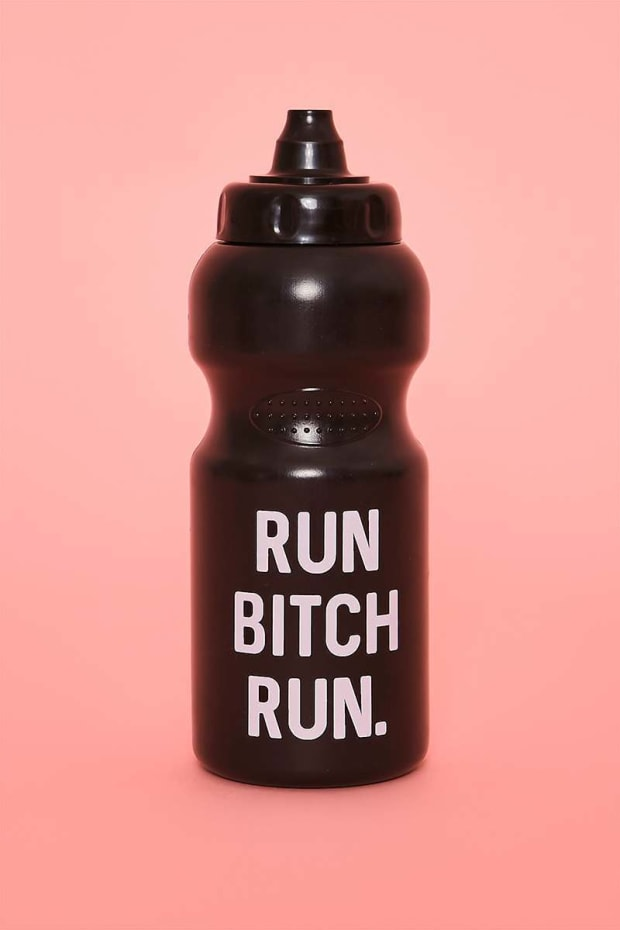 CHARLOTTE CROSBY RUN BITCH RUN BLACK SPORTS BOTTLE