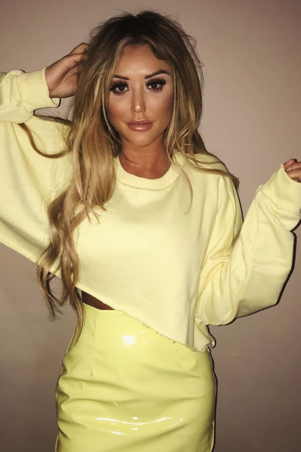 CHARLOTTE CROSBY LEMON OVERSIZED CROPPED SWEATER