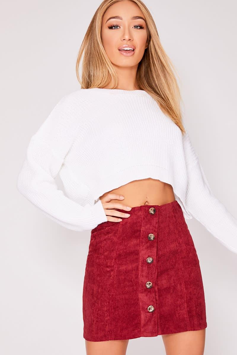 9fe17aabf Burgundy Cord Mini Skirt – DACC