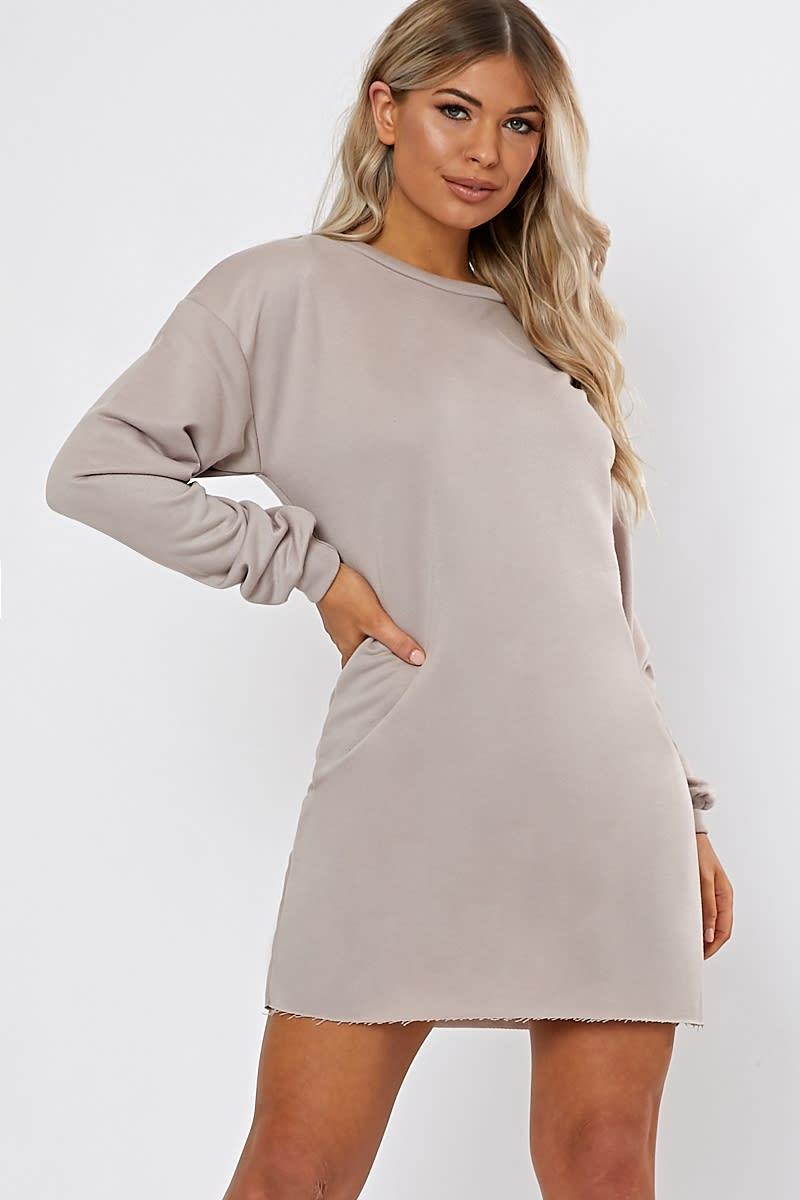 19a6392c3e1 Louna Stone Oversized Sweater Dress