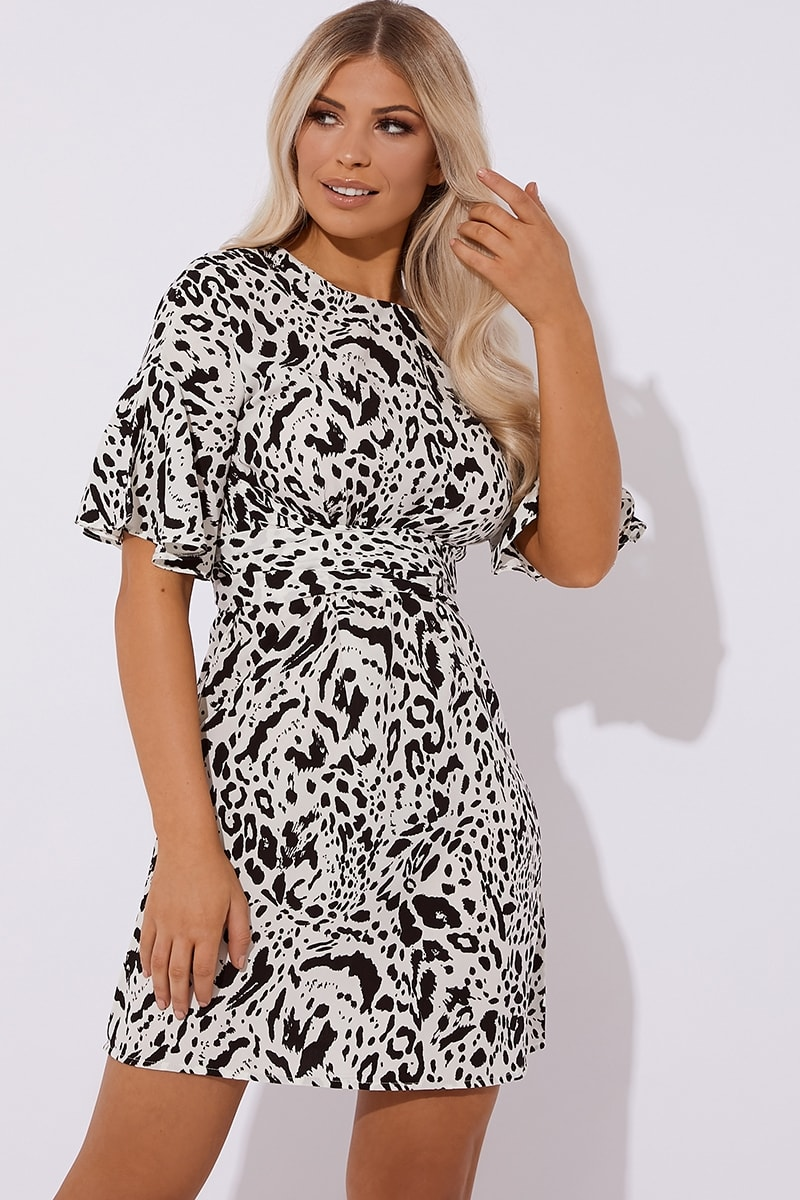 e9b58a38847 Kailani White Leopard Print Mini Dress