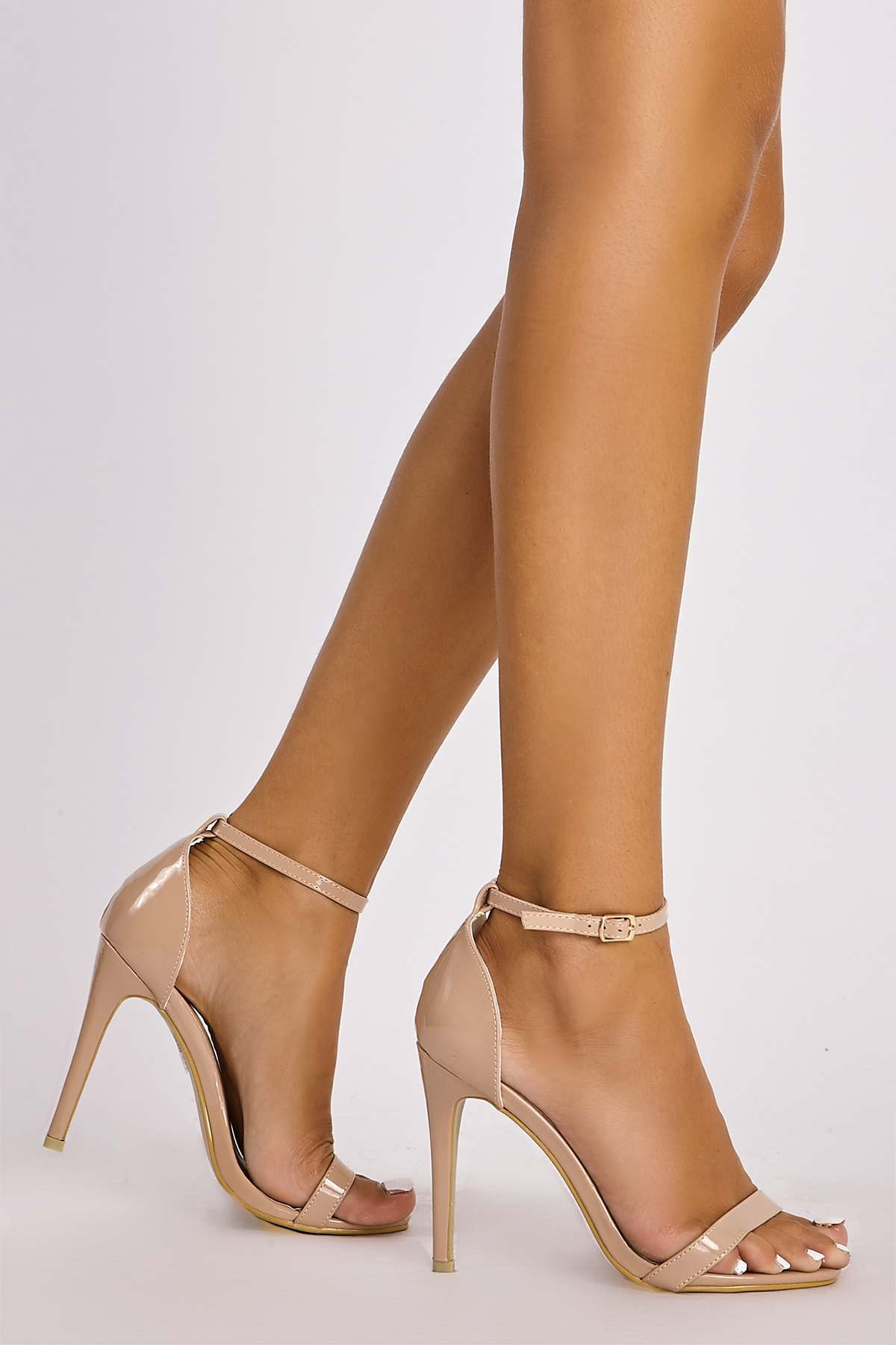 d7376b61b MARNEY NUDE PATENT ANKLE STRAP HEELS